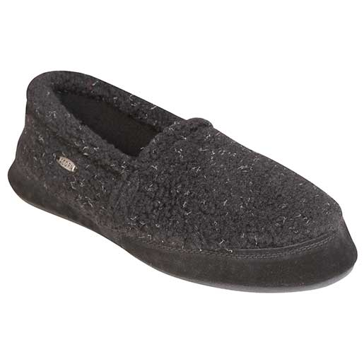 Men's Acorn Moc Slipper Black Sale $23.99 SKU: 15655509 ID# A10086AEC-5 UPC# 49129330223 :