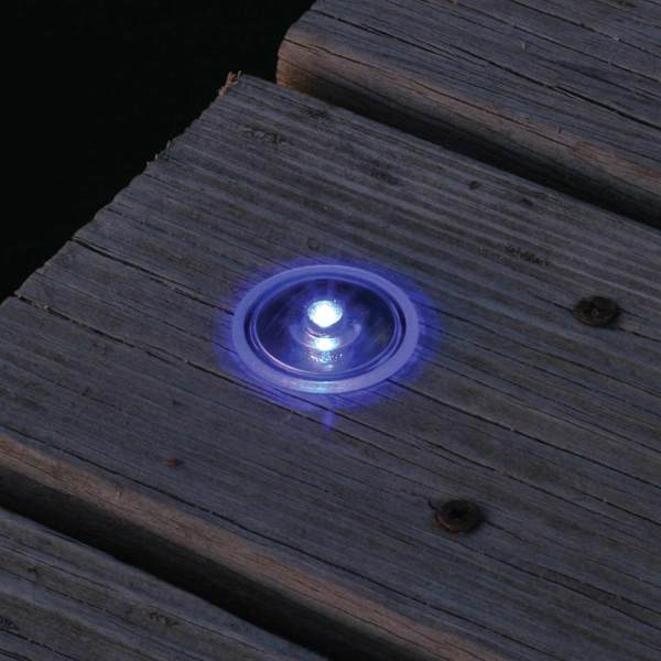 Lake Lite Inc Solar Dock and Deck Dots, Blue, 4-Pack