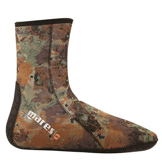Mares Camo 30 Dive Socks, 3mm., Brown Camouflage, Extra Large