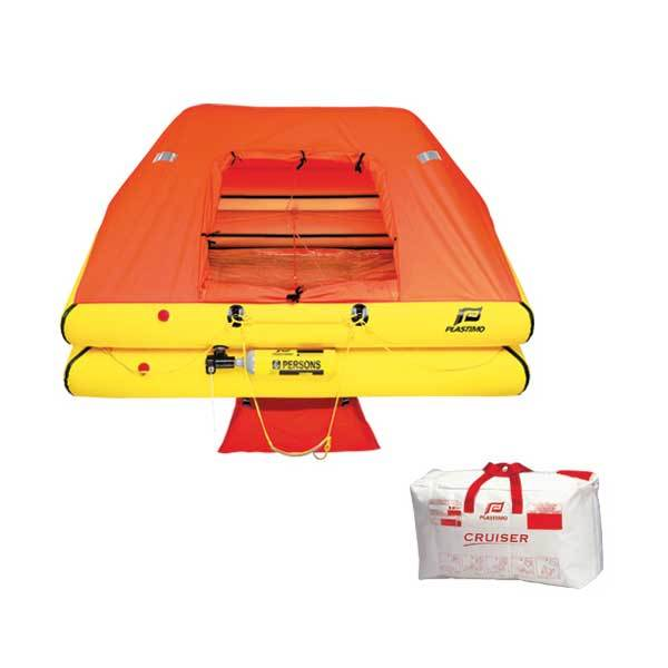 Plastimo ORC+ Offshore Cruiser Life Raft, 4-Person with Valise