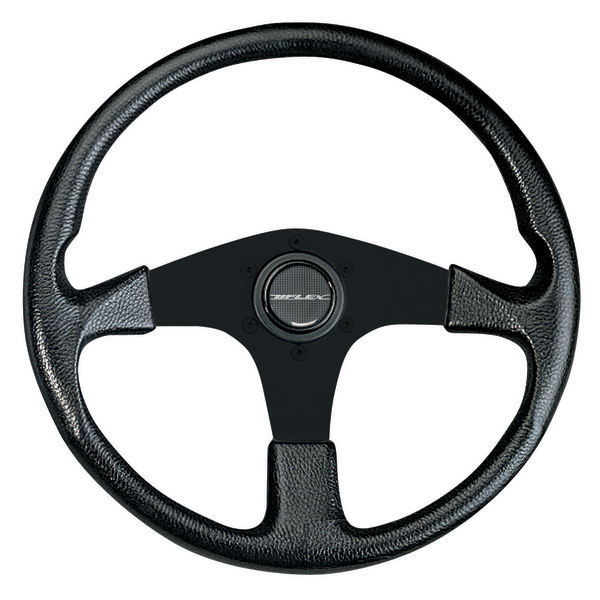 Uflex Corse Steering Wheel, Black Grip/Black Spokes