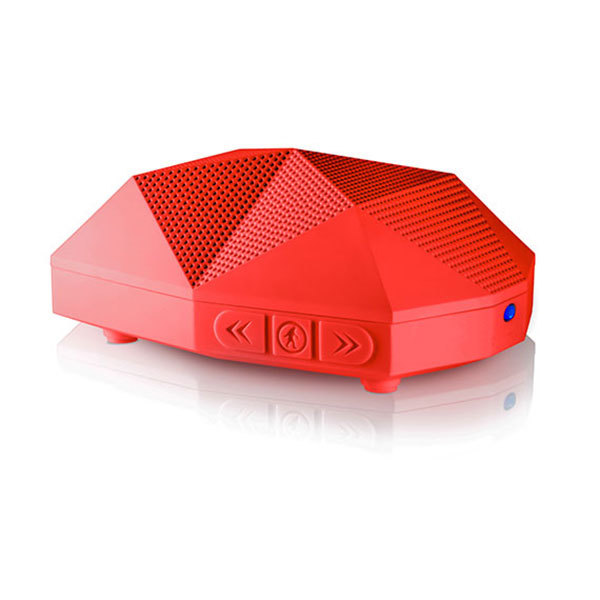 Outdoor Tech Turtle Shell 2.0 Rugged Wireless Bluetooth Speaker—Red