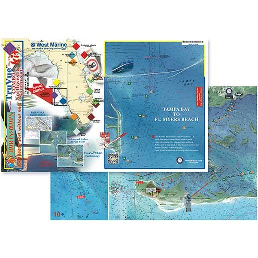 Coastal Charts TruVue Chartkit Combo—Northwest & Southwest Florida