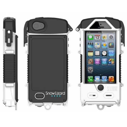 Snow Lizard SLXtreme Waterproof Case with Integrated Battery for iPhone 5/5S—White