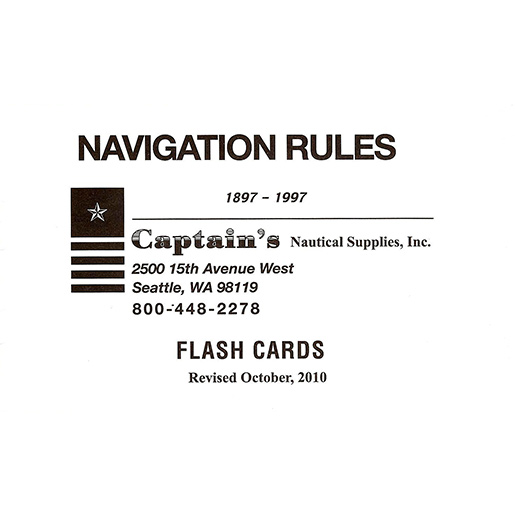 Paradise Cay Navigation Rules Flashcards