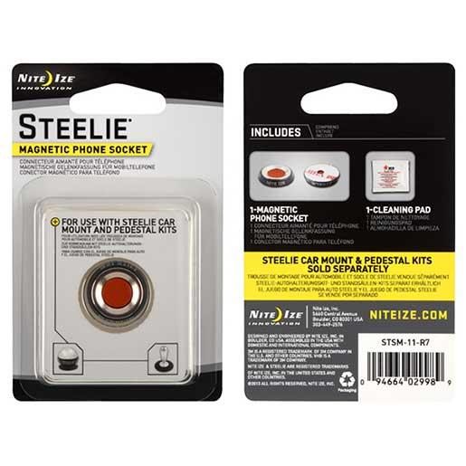 Nite Ize Steelie Small Magnetic Phone Socket Kit Sale $14.99 SKU: 15735251 ID# STSM-11-R7 UPC# 94664029989 :