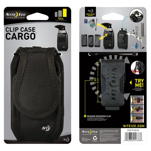 Nite Ize Rugged Holster Phone Clip Case Cargo, Black, Tall