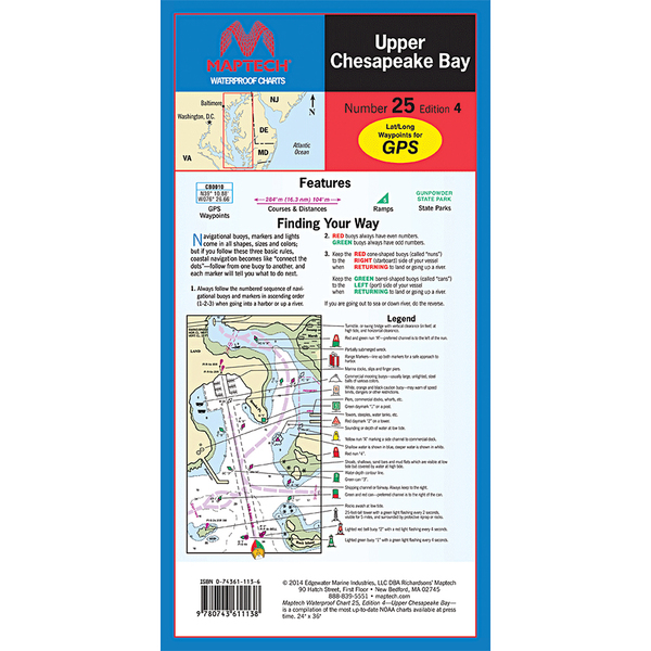 Maptech Upper Chesapeake Bay, 4th Edition Sale $21.95 SKU: 15742257 ID# WPC025-04 UPC# 9780743611138 :