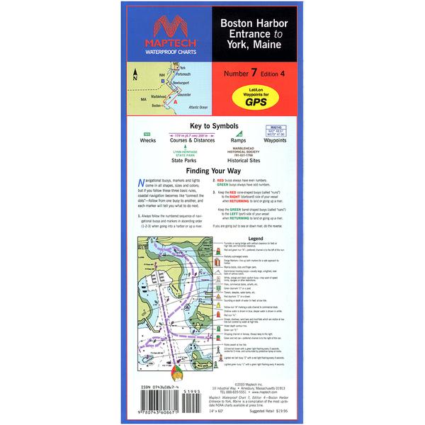 Maptech Boston Harbor Entrance to York ME, 4th Edition Sale $21.95 SKU: 15742265 ID# WPC007-05 UPC# 9780743611145 :