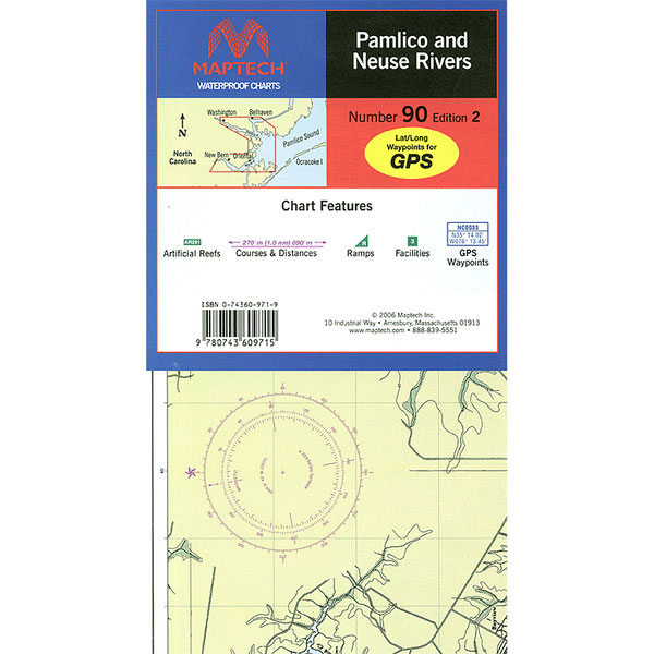 Maptech Pamlico & Neuse Rivers, 3rd Edition Sale $21.95 SKU: 15742273 ID# WPC090-03 UPC# 9780743611152 :