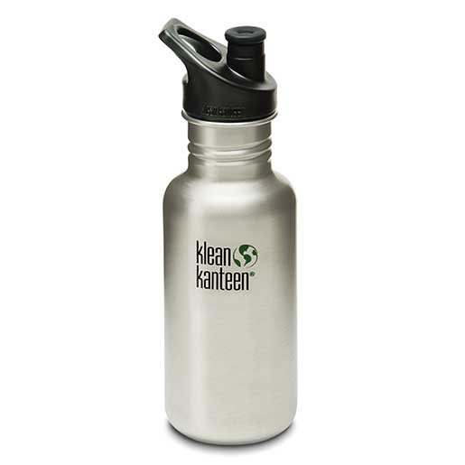 Klean Kanteen Classic with Sport Cap, Silver Stainless Steel, 18oz. Sale $18.99 SKU: 15750516 ID# K18CPPS-BS UPC# 763332027410 :