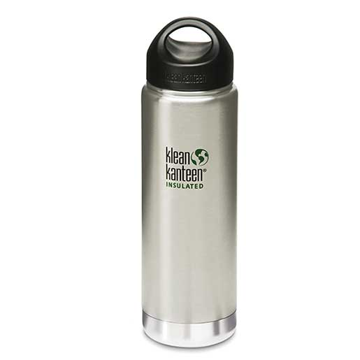 Klean Kanteen Vacuum Insulated, Silver Stainless Steel, 20oz.