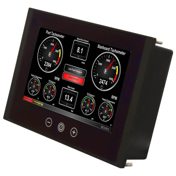 Maretron Vessel Monitoring and Control Touchscreen, 8 Diag. Color Display