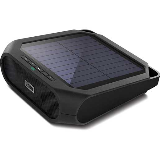 ETON Rugged Rukus Solar-Powered Wireless Bluetooth Speaker—Black