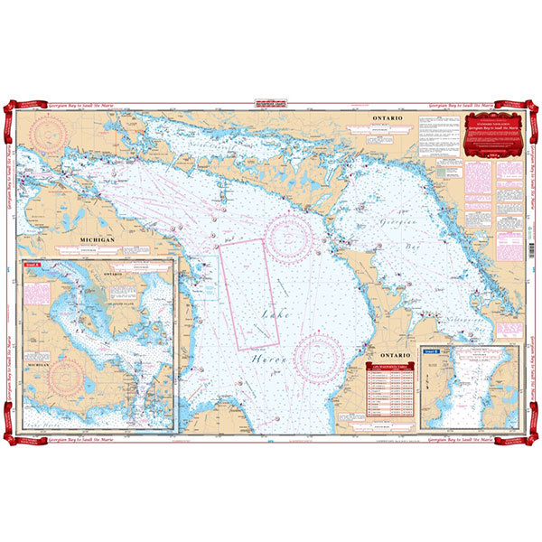 Waterproof Charts Georgian Bay to Sault St Marie Chart Sale $26.99 SKU: 15772098 ID# 177 UPC# 740399017707 :