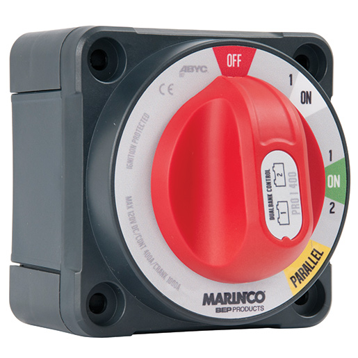 Marinco Pro Installer Dual Bank Control Battery Switch