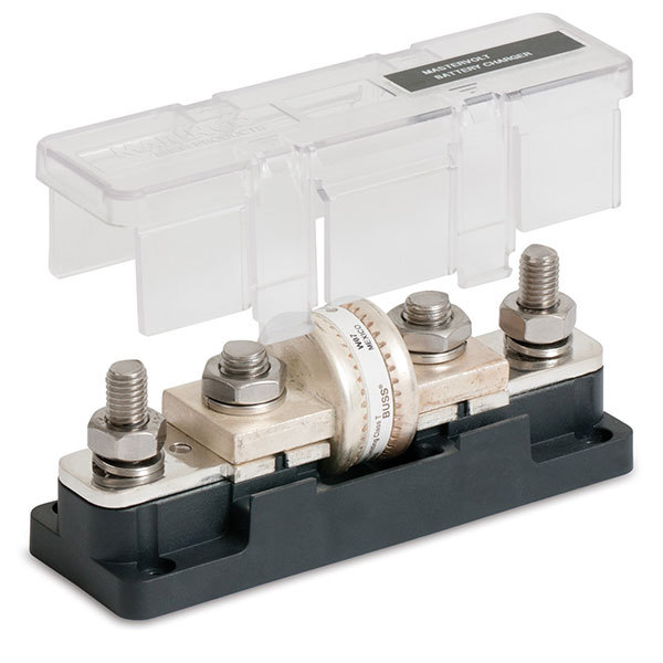 Marinco Black MC10 Class T Fuse Holder with 2 Additional Studs, 400-600A