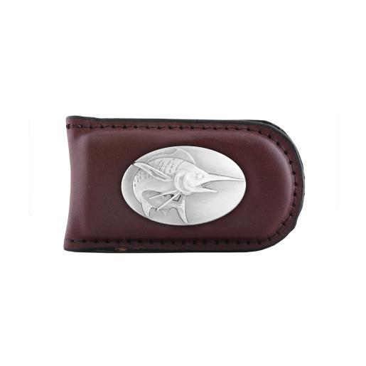 Zeppelin Concho Money Clip Brown