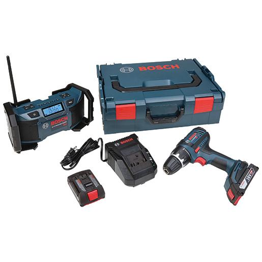 Bosch 18V Cordless Drill/Driver & Radio