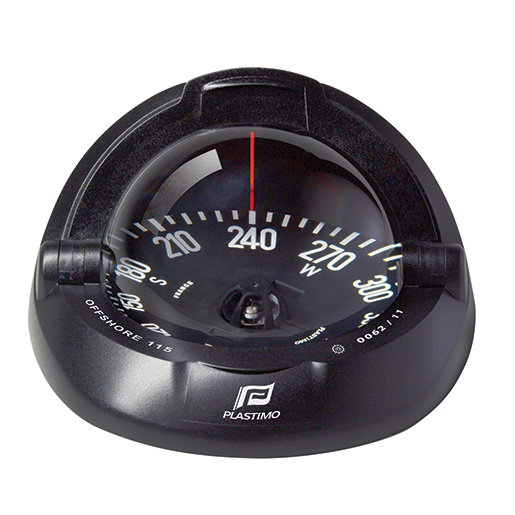 Plastimo Offshore 115 Compass—Black Case with Black Flat Card