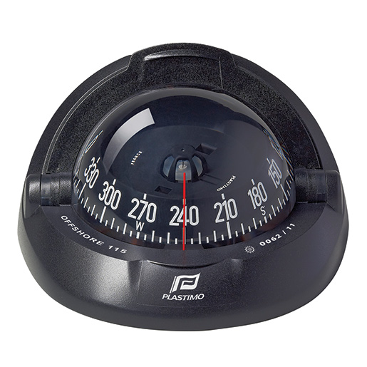 Plastimo Offshore 115 Compass—Black Case with Black Conical Card