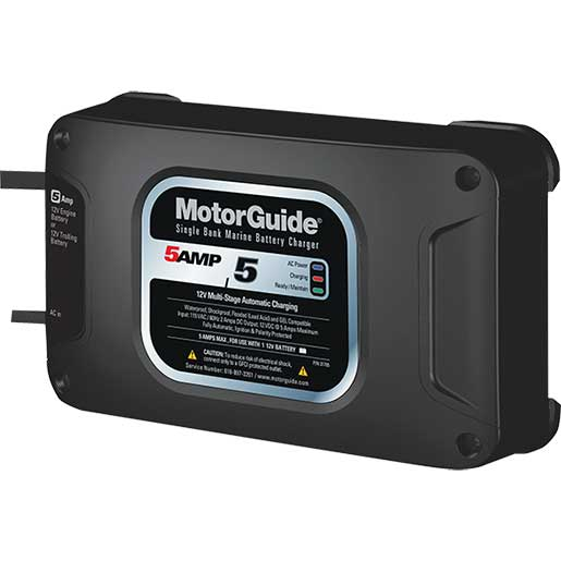Motorguide On-Board Single Bank Battery Charger, 5A
