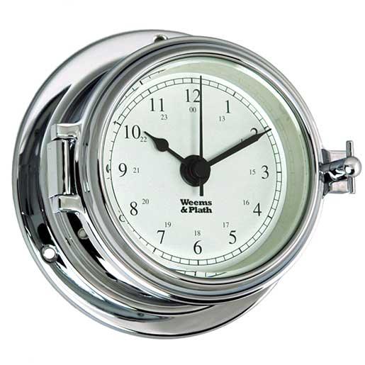 Weems & Plath Endurance II 105 Quartz Clock, Chrome