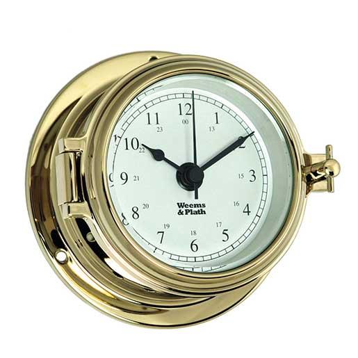 Weems & Plath Endurance II 105 Quartz Clock, Brass