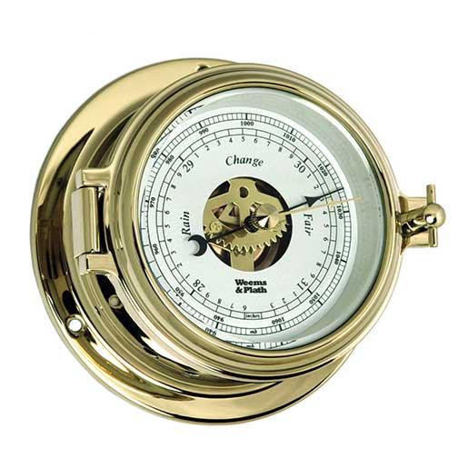 Weems & Plath Endurance II 105 Open-Dial Barometer, Brass