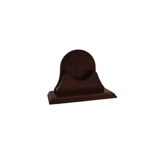 Weems & Plath Single Wood Base for Endurance II 105, Mahogany Finish