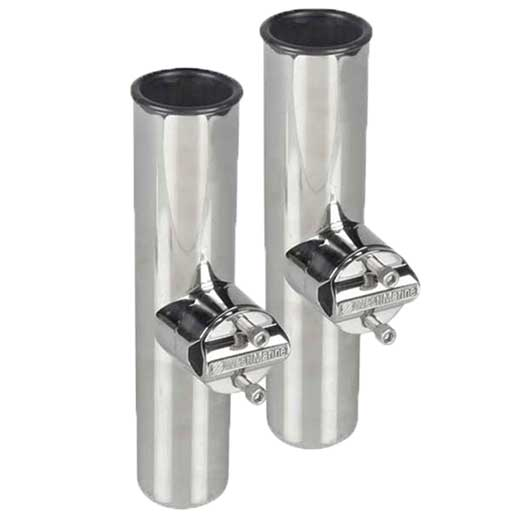 Blacktip Stainless Steel Clamp-On Rod Holders, Two Pack