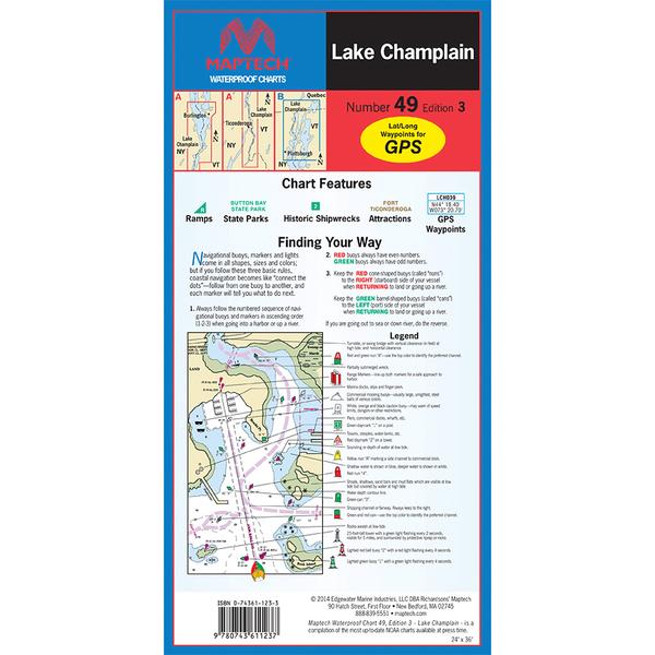 Maptech Lake Champlain, 3rd Edition Sale $21.95 SKU: 15940109 ID# WPC049-03 UPC# 9780743611237 :