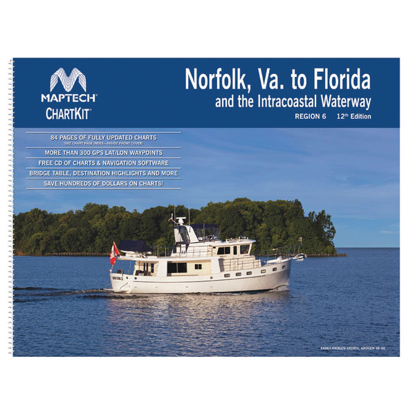 Maptech ChartKit Region 6, 12th Edition Norfolk Va. to Florida and the Intracoastal Waterway