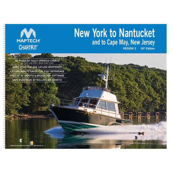 Maptech ChartKit Region 3, 16th Edition New York to Nantucket and to Cape May, New Jersey