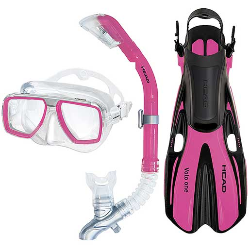 HEAD Tarpon/Barracuda/Volo One Snorkel Set, Pink, Medium/Large Sale $49.95 SKU: 15948078 ID# 480307SFPK ML UPC# 792460125880 :