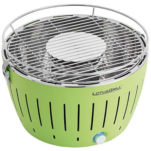 Lotus Grill Smokeless Grill, Lime Green