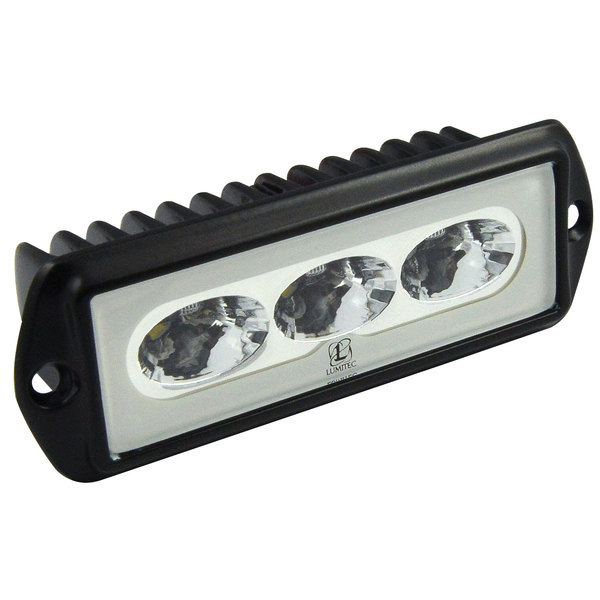 Lumitec Capri Flush-Mount Floodlight, Black Housing