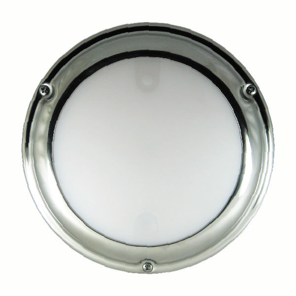 Lumitec TouchDome - Dome Light, Polished Stainless, White/Red Dimming