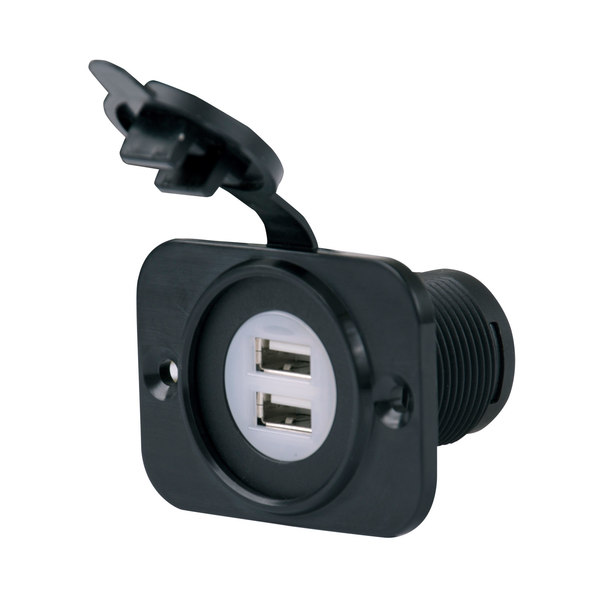 Marinco Sealink Deluxe Dual Usb Charger Receptacle 12 24v