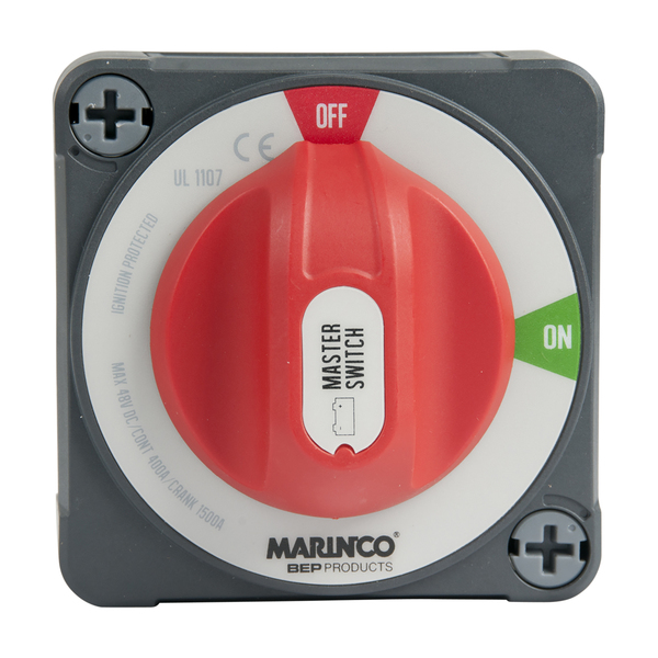 Marinco EZ-Mount Pro Installer Off/On, Double Pole Battery Switch