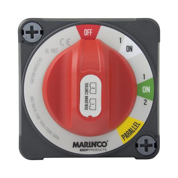 Marinco Pro Installer EZ-Mount Dual Bank Control Battery Switch
