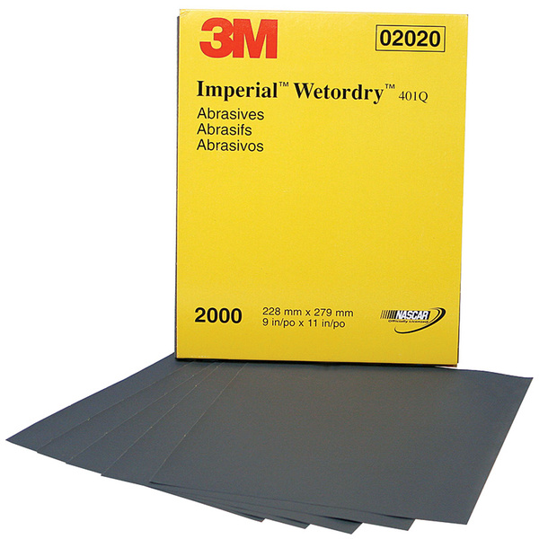 3M Imperial Wetordry 9 x 11 Sleeve, Grit: 2000, Standard Pack: Box, Quantity/Box: 50 Sale $129.99 SKU: 15986573 ID# 2020 UPC# 51131020207 :