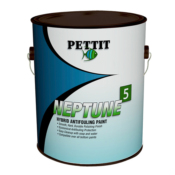 Pettit Neptune5 Hard Hybrid Thin Film Antifouling Paint, Black, Gallon