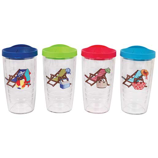 Tervis Beach Chair Tumblers, 4 pack, 16oz.