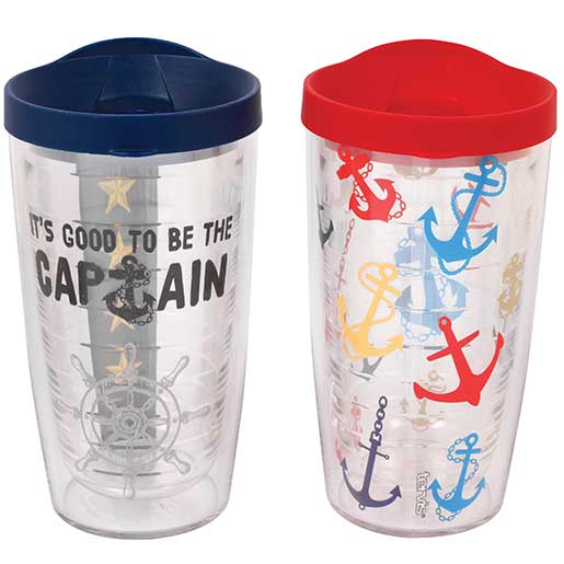 Tervis Captain Anchor Tumblers, 2 pack, 16oz.