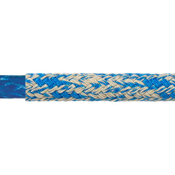Samson Rope 8mm WarpSpeed II Double Braid, 6,200lb. Breaking Strength, Blue