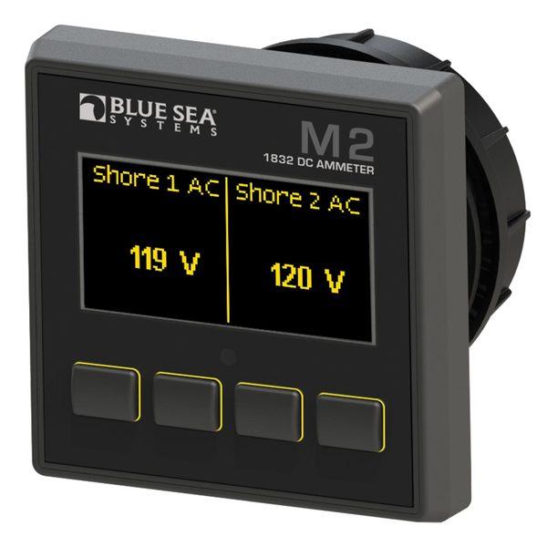 Blue Sea Systems M2 OLED Digital Monitors, DC Ammeter Sale $239.99 SKU: 16016081 ID# 1832 UPC# 632085018320 :