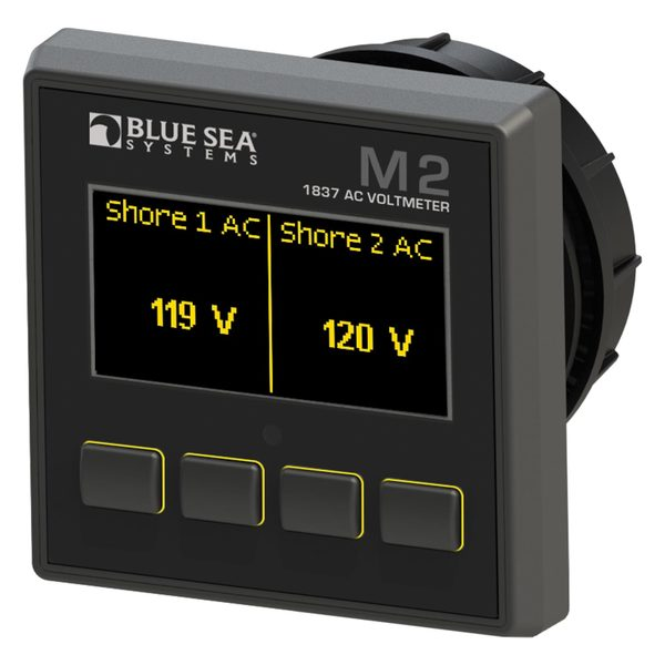 Blue Sea Systems M2 OLED Digital Monitors, AC Voltmeter Sale $239.99 SKU: 16016123 ID# 1837 UPC# 632085018375 :