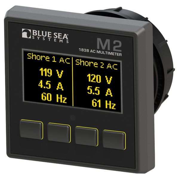 Blue Sea Systems M2 OLED Digital Monitors, AC Multimeter