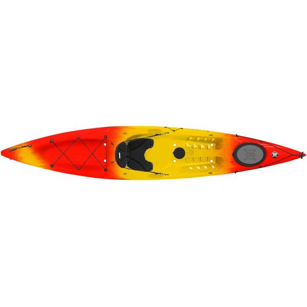 Perception Triumph 13.0 Sit-On-Top Companion Kayak, Red/Yellow